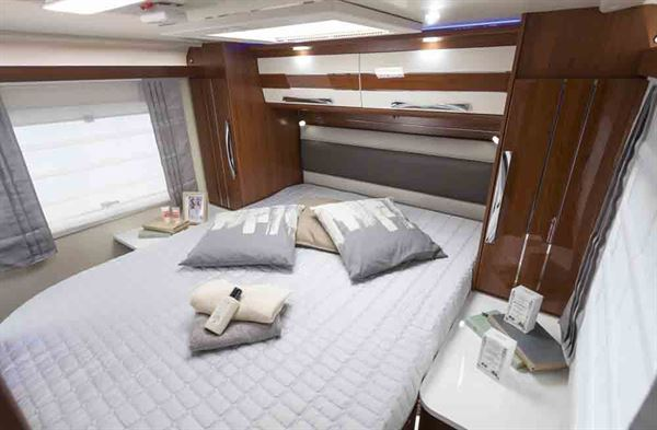 The island bed in the Mobilvetta K-Yacht - picture courtesy of Marquis