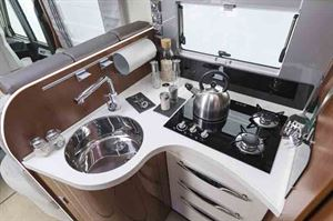 The kitchen has a combined gas and induction hob - picture courtesy of Marquis
