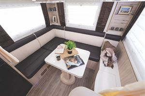 The Mobilvetta K-Yacht 80 rear lounge motorhome
