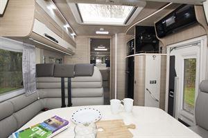The interior in the Mobilvetta Tekno Line K-Yacht 85 motorhome