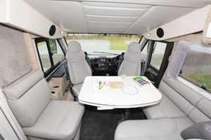 The lounge in the Mobilvetta Tekno Line K-Yacht 85 motorhome