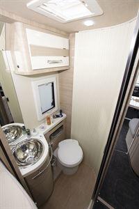 The washroom in the Mobilvetta Tekno Line K-Yacht 85 motorhome