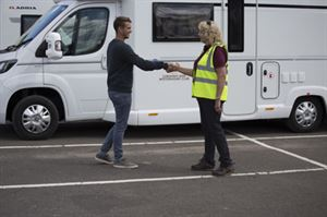 Motorhome manoeuvring courses with the Caravan and Motorhome Club