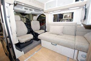 The lounge in the Murvi Pimento SB campervan