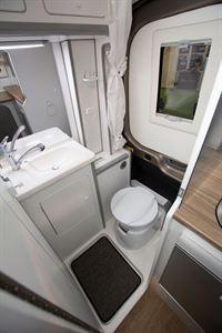 The washroom in the Murvi Pimento SB campervan