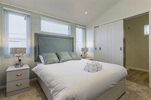 The interior of a Prestige luxury lodge