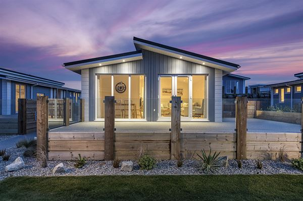 One of Prestige's luxury lodges on a park in Cornwall
