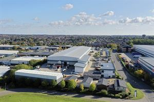 Aerial view of the Prestige factory