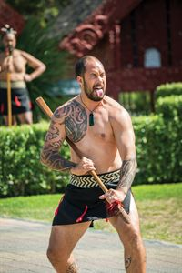 A Maori traditional welcoming ceremony performed at Te Puia, Rotorua