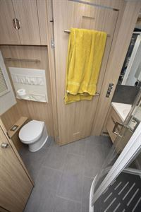 The washroom in the Niesmann + Bischoff Flair 830 LE motorhome