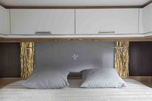 Close up view of the bed - picture courtesy of Niesmann