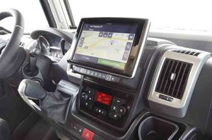 The cab with optional Navigator - picture courtesy of Niesmann