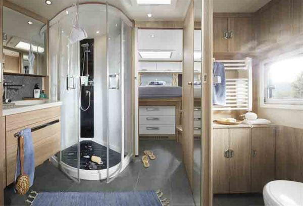 The washroom, complete with wellness shower - picture courtesy of Niesmann