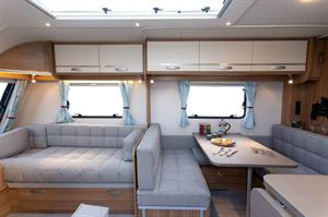Not many caravans have a separate dining area for four