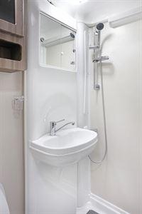 The washroom in the Auto-Sleeper Nuevo ES motorhome