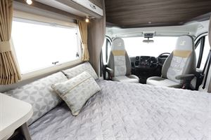 The double bed in the Auto-Sleeper Nuevo ES motorhome