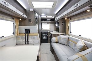 A view of the interior of the Auto-Sleeper Nuevo ES motorhome