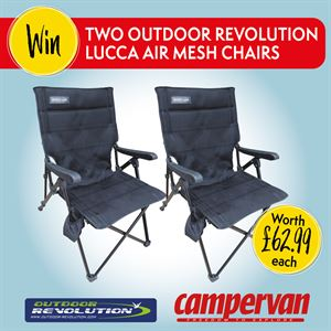 Share your campervan stories to win two Outdoor Revolution Lucca Air Mesh Chairs!