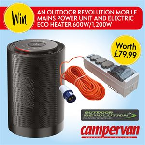 Win an Outdoor Revolution Mobile Mains Power Unit and Electric Eco Heater for your campervan!