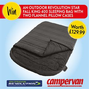 Win an Outdoor Revolution Star Fall King 400 sleeping bag