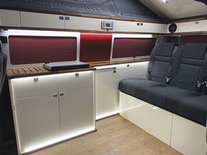 Inside the Ocean Breeze campervan