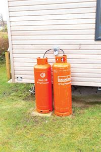 On most parks, gas is supplied in 47kg cylinders