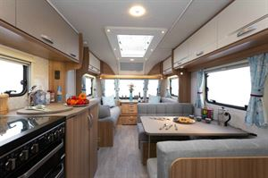 Open plan and spacious, the 686 is a top family caravan