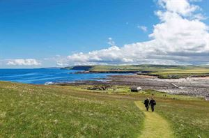 The view across the Viking settlement at the Brough of Birsay, Orkney - picture courtesy of Alamy Stock Photo