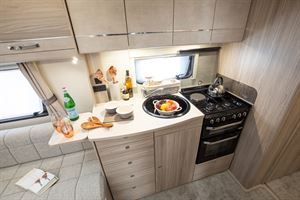 A typical oven in a caravan
