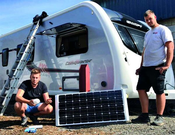 The step-by-step guide to fitting a caravan solar panel