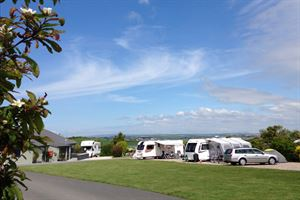 The touring area with great views