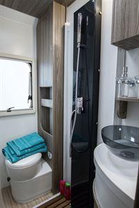 The shower room in the Benimar Primero 331 motorhome