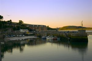 Padstow harbour at sunset