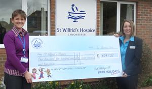 Park smashes charity target for local hospice