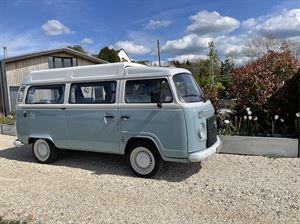 Hire a classic VW campervan called Bluebell through PaulCamper
