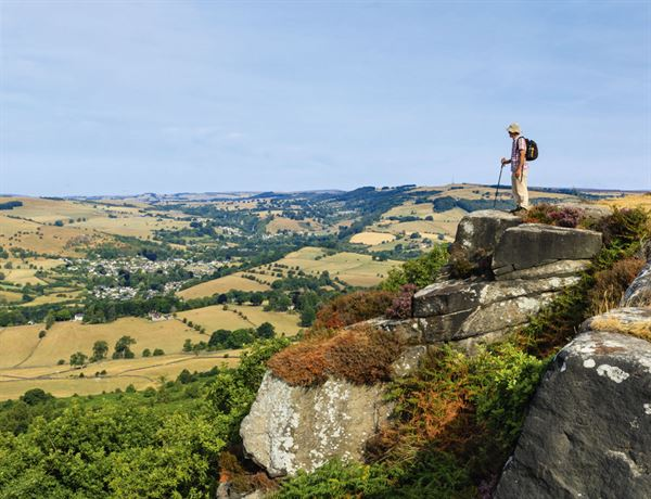Enjoying the view from Baslow Edge - picture courtesy of Felicity Martin