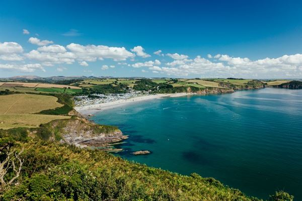 The stunning location of Pentewan Sands