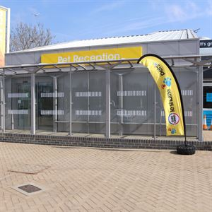 the new pet reception at Eurotunnel in the UK