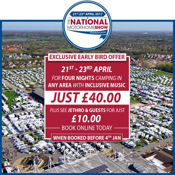 National Motorhome Show launch offer
