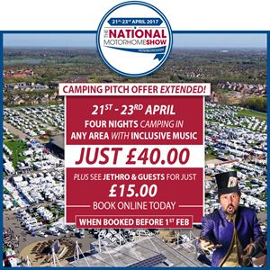 National Motorhome Show booking offer