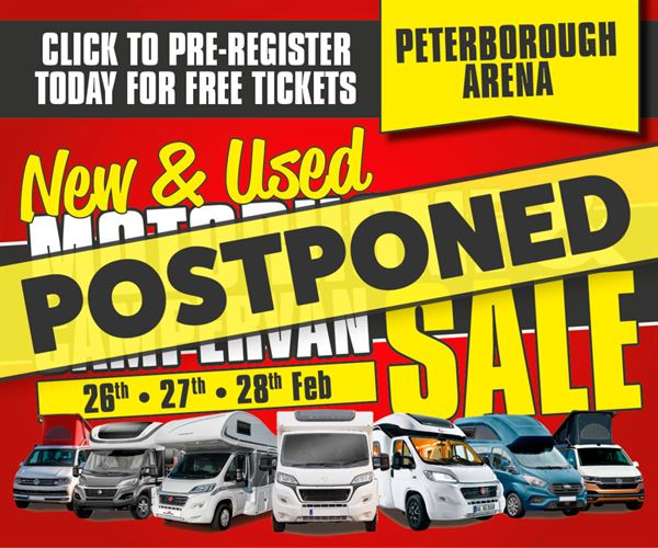 February's New & Used Motorhome & Campervan Sale postponed until 2022