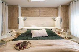 The bedroom in the Pilote 740FC