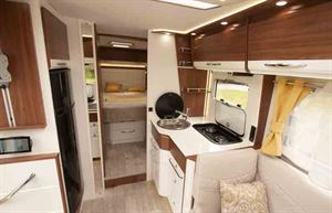 Inside the motorhome, looking to the bedroom © Warners Group Publications, 2019
