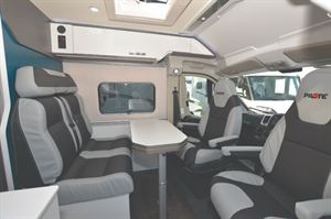 Pilote Van V600G Motorhome Interior with Bed Layout
