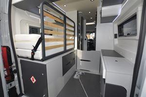 The interior of the Pilote Van V600 campervan