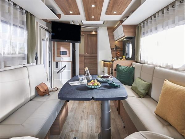 The interior of the Pilote Pacific P696D motorhome