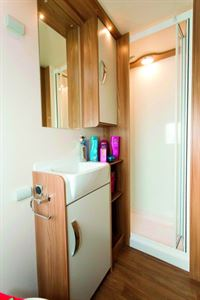 Plenty of cabinet space in the washroom