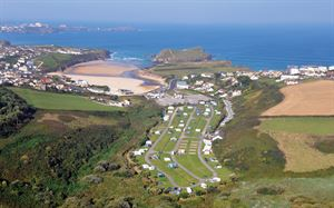 The stunning location of Porth Beach