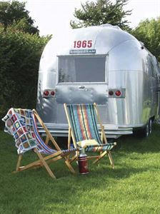 An Airstream caravan at Vintage Vacations on the Isle of Wight