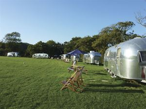 Vintage Vacations - a campsite for quirky caravans on the Isle of Wight